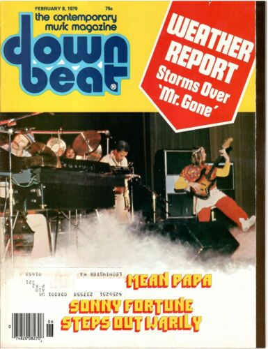 Weather Report cover - Down Beat Magazine - 8 Feb 1979 - Jazz - Jo Jones