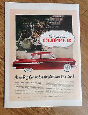 1953 Packard Clipper Ad New Big Car Value