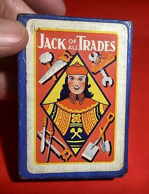 1932 Card Game-Jack Of All Trades-Complete With Rules In Very Good Condition