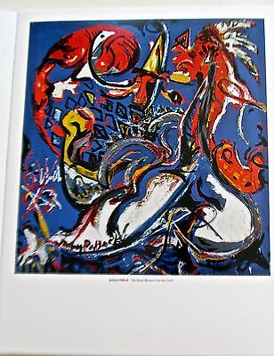Jackson Pollock The Moon Woman Cuts a Circle  Poster Offset Lithograph 14x11