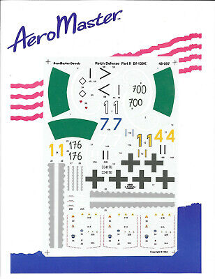 Aeromaster 48-097 Reich Defense Pt.II Bf-109K Decal Sheet