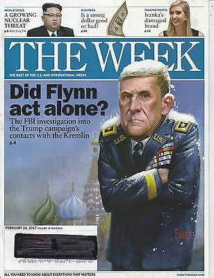 FEB 24 2017 THE WEEK magazine DONALD TRUMP - DID FLYNN ACT ALONE?