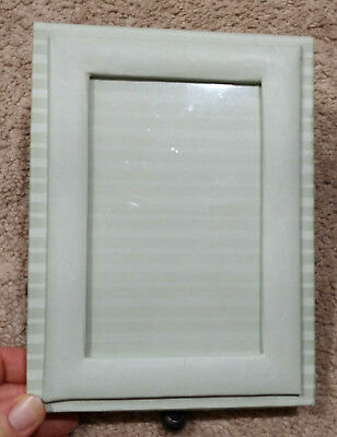 Photo/Picture Frame/Small Storage Box/Drawer/Keepsake-Green/Striped-4