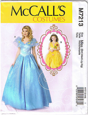 Cinderella Princess Dress Ball Gown Costume Sewing Pattern 8 10 12 14 16 18 20
