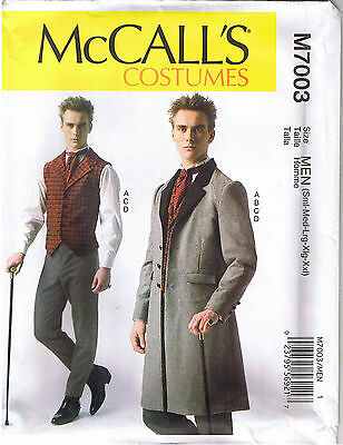 Herren Viktorianisch Steampunk Weste Mantel Hose Krawatte Kostüm Nähen Muster (Herren Kostüm Nähen Muster)