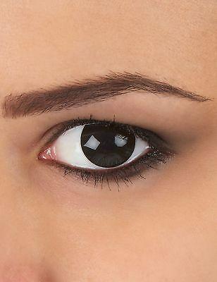 Kontaktlinsen extravagantes schwarzes Auge 1 Jahr Erwachsene - Schwarze Augen Kontakte Kostüm
