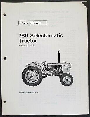 David Brown - 780 Selectamatic Tractors Dealer Parts Book Manual - 1970