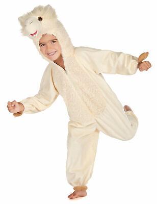 Lama Kinderkostüm Tier-Verkleidung weiss (Lama Kostüm)