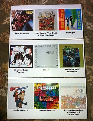 MONKEES Promo Only Catalog Posters (1 set of 3 posters) RARE!!!! MINT!