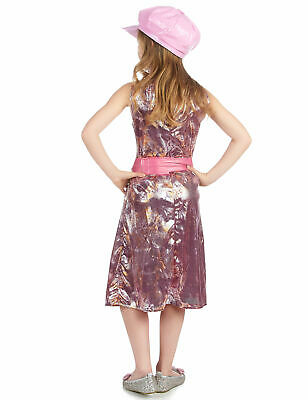 60er-Jahre Mädchenkostüm Disco-Kleid rosa-silber-gold - Cod.173919