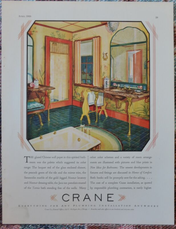 Crane Ad. Gorgeous. About 1930. From The Sportsman. #2.