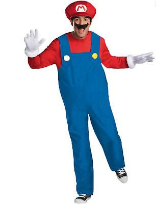 Mario Deluxe Kostüm Super Mario Videospiel rot-blau Cod.223933