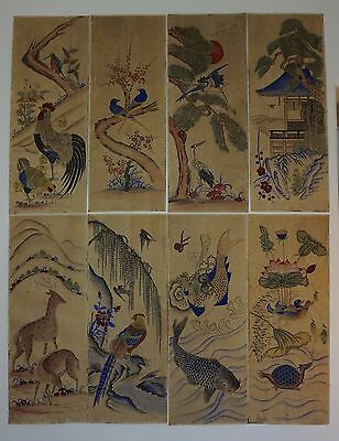 Very Fine Rare Korean Joseon Dynasty 18th~19th Century 8 Panel Screen