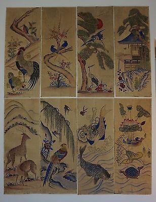 Very Fine Rare Korean Joseon Dynasty 18th~19th Century 8 Panel Screen