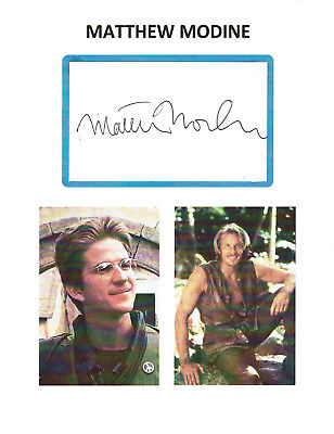 MATTHEW MODINE - Actor - Full Metal Jacket / Stranger Things - Autograph