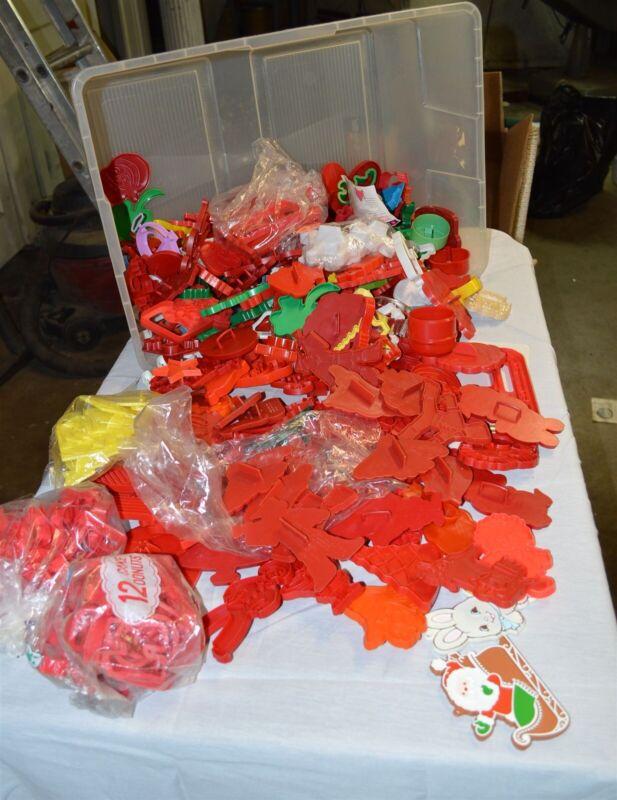 220 plastic cookie cutters 1970
