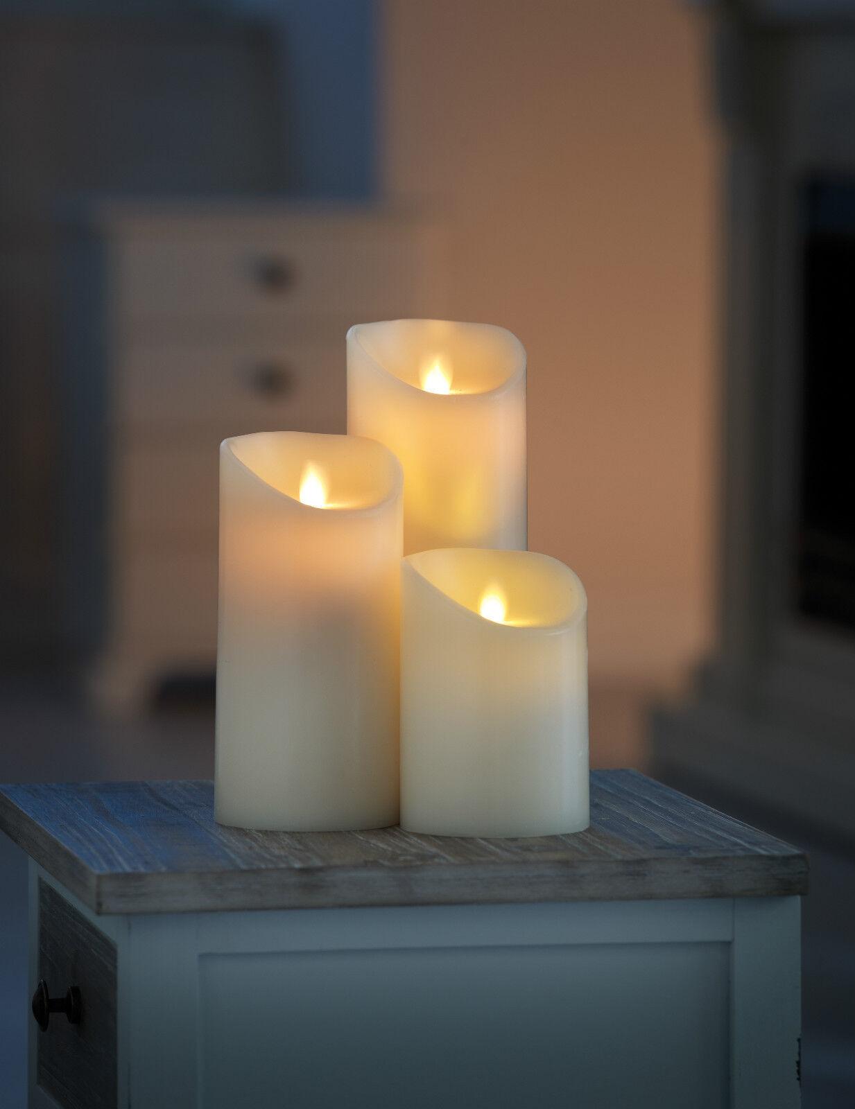 flammenlose led kerze mit beweglicher flamme 8 9 cm 5 stunden timer wie echt eur 23 99. Black Bedroom Furniture Sets. Home Design Ideas