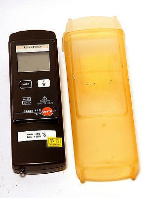 Testo 112 Temperaturmessgerät Digitalthermometer eichfähig inkl.Schutzhülle