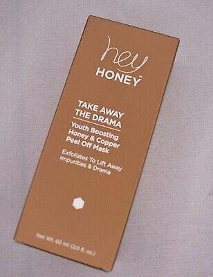 NEW Hey Honey Take Away The Drama Youth Boosting Honey Copper Peel Off Mask 2 OZ