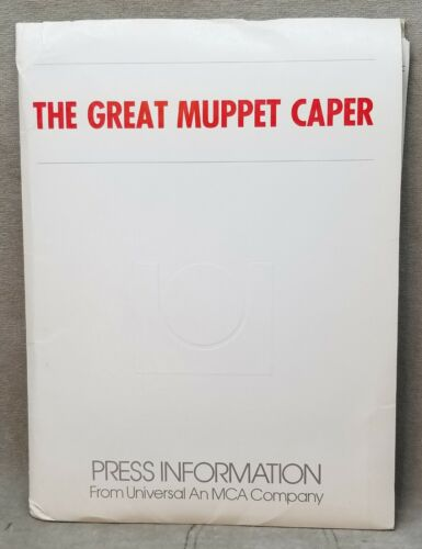 1981 Jim Henson The Great Muppet Caper Movie Press Kit with 15 photos.