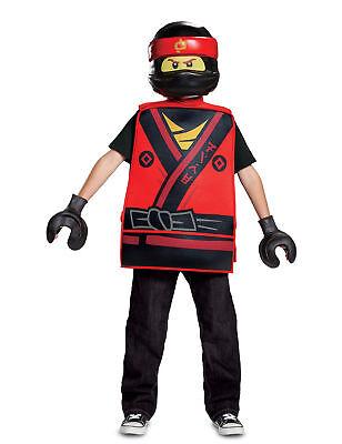 Ninjago-Kai Lego-Kinderkostüm Karneval rot-gelb Cod.281298 ()