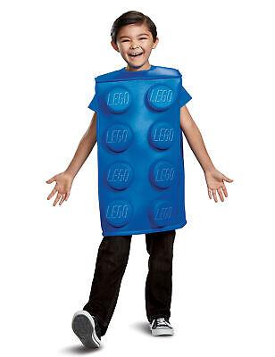 Lego-Baustein-Lizenzkostüm für Kinder blau Cod.315817 (Lego Kostüm Bauen)