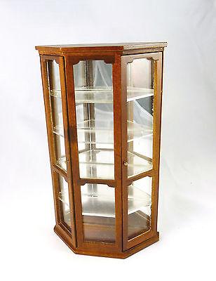 Closeout! Dollhouse Miniature Mirrored Curio Shelf Display Cabinet, T6074
