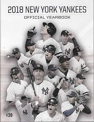 2018 New York Yankees Official Yearbook Brand New No Stickers