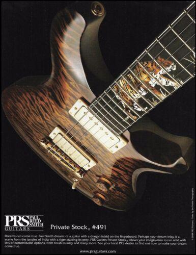 PRS Private Stock #491 Guitar 2004 ad 8 x 11 advertisement print