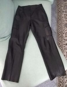 Pantaloni-in-vera-pelle-da-donna-taglia-44-made-in-Italy