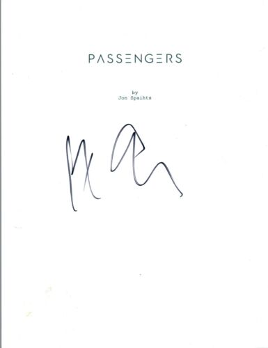Morten Tyldum Signed Autographed PASSENGERS Full Movie Script COA