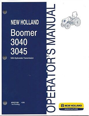 New Holland Boomer 3040 3045 Compact Tractor Operator Manual 87477122
