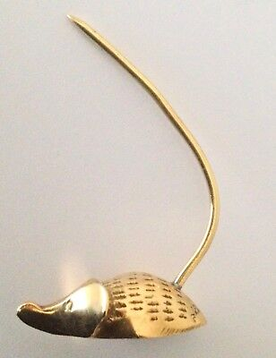 QUIRKY, STYLIZED, SMALL BRASS MOUSE, RECEIPT SPIKE