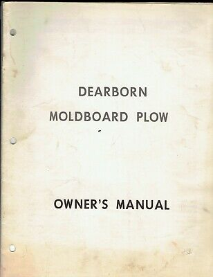 Ford Dearborn Moldboard Plow Onwers Manual Original Undated 10 Pages