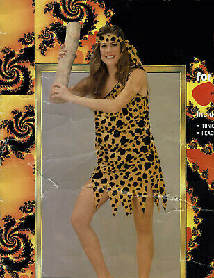 Cavewoman Adult Costume Prehistoric Animal Print Flinstones Off-Shoulder - Flinstone Kostüme
