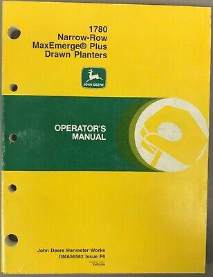 John Deere 1780 Narrow-row Maxemerge Plus Drawn Planters Oma56582 Issue F6  G-2