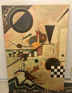Wassily Kandinsky wood mounted poster art