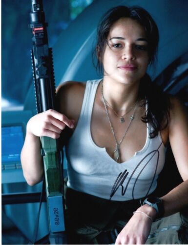 Michelle Rodriguez SIGNED 10x8 Photo AFTAL OnlineCOA (B)