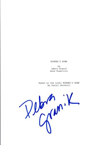 Debra Granik Signed Autographed Winter's Bone Full Movie Script COA