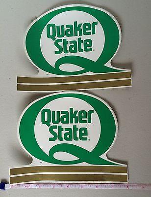 QUAKER STATE Motor Oil Sticker Lot of 2 Original Vintage Racing Decal NOS New