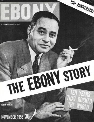 SCARCE Ebony Magazine ~ THE EBONY STORY, 10TH ANNIVERSARY ~ November 1955