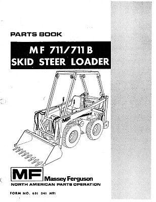 Massey Ferguson 711 711b Skid Loader Hydraulic Service Parts Manual Pm 651 34