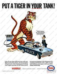 Put A Tiger in Your Tank Old Esso Advertising Poster ...