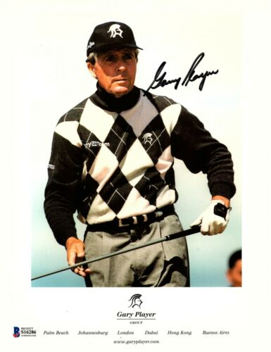 GARY PLAYER Signed Autographed 8.5X11 Photo BAS BECKETT #S16286