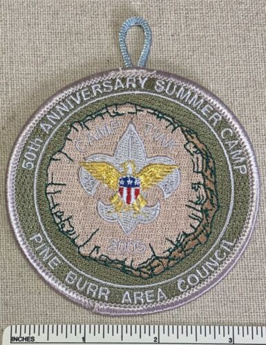 2005 CAMP TIAK 50th Anniversary PATCH Pine Burr Area Council BSA Summer Camping