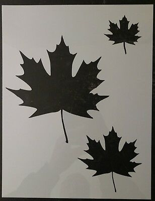 "Maple Leaf Maple Leaves Home Decor 8.5"" x 11"" Custom Stencil FAST FREE SHIPPING"