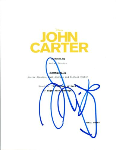 Taylor Kitsch Signed Autographed JOHN CARTER Movie Script COA