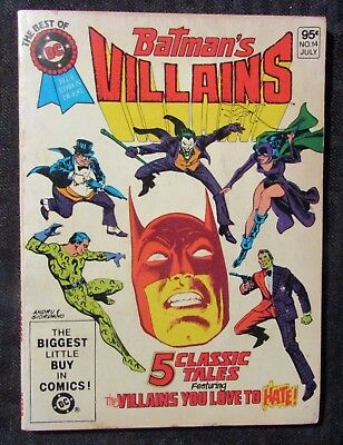 1981 THE BEST OF DC #14 VG 4.0 Batman's Villains / Blue Ribbon Digest - Batman's Villains