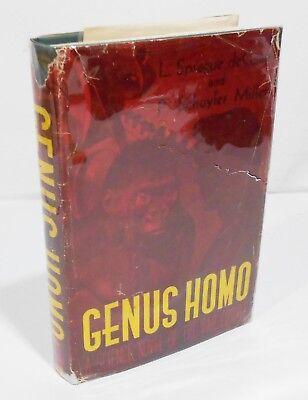 Genus Homo A Science Novel Of The Far Future By L  Sprague Decamp Hcdj 1St 1St