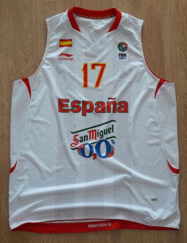Basketball Jersey Match Worn SPAIN ESPANA National team  FIBA Europe